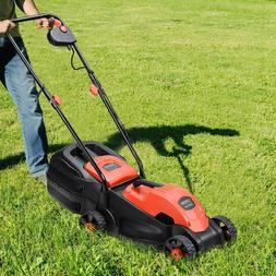 14 Electric Push Lawn Corded Mower with Grass Bag Maneuver P