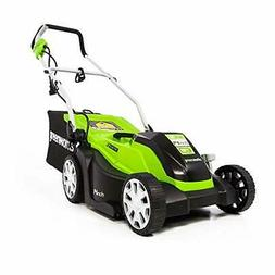 Greenworks 14-Inch 9 Amp Corded Electric Lawn Mower with Ext