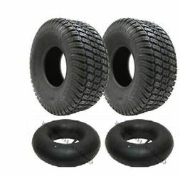 2 - 15x6.00-6 4ply tyre with tubes turf grass lawn mower 15