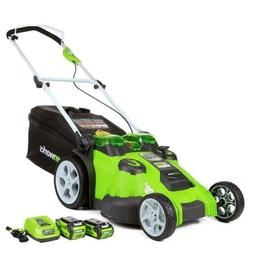Greenworks 40V 20-Inch Cordless Twin Force Lawn Mower with B