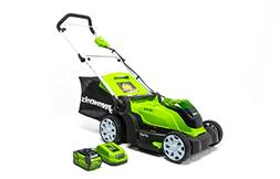 17-Inch 40V Cordless Lawn Mower 4.0 AH Battery Included Sing