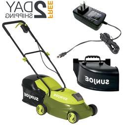 Cordless Lawn Mower With Battery Powered Charger Walk Behind