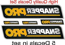 Snapper Pro commercial zero turn decal graphics sticker embl