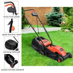 Electric Lawnmower Small Lawn Mower Corded Walk-Behind Push