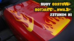Flame decals for Craftsman Murray Lawn Mower tractor - Hot S