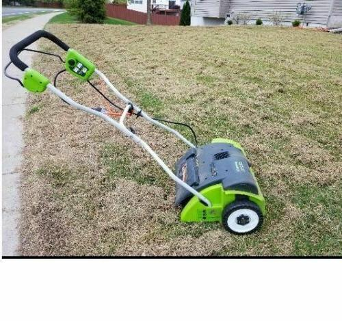 14 Inch 10 Amp Corded Dethatcher 27022 scarifier Stainless S