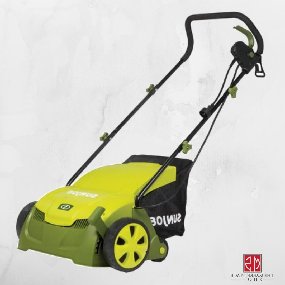Electric Lawn Dethatcher with Collection Bag 12 Amp SUN JOE