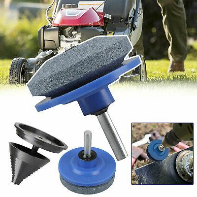 mower blade balancer and sharpener set