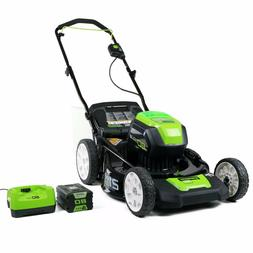 New GreenWorks 25302 40V Twin Force Lawn Mower w/ battery an