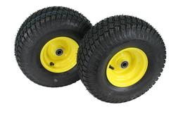 15x6.00-6  4 Ply Turf Tires with  6x4.5 JD Wheels Lawn & Ga