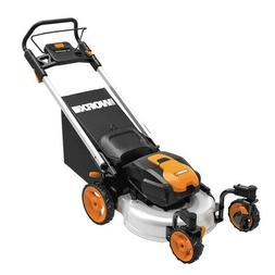 WORX WG771 56V Lithium-Ion 3-in-1 Cordless Mower with Lockin